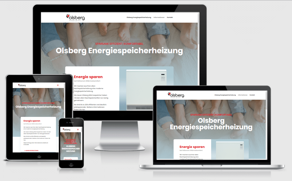 Website Olsberg Energiespeicherheizung