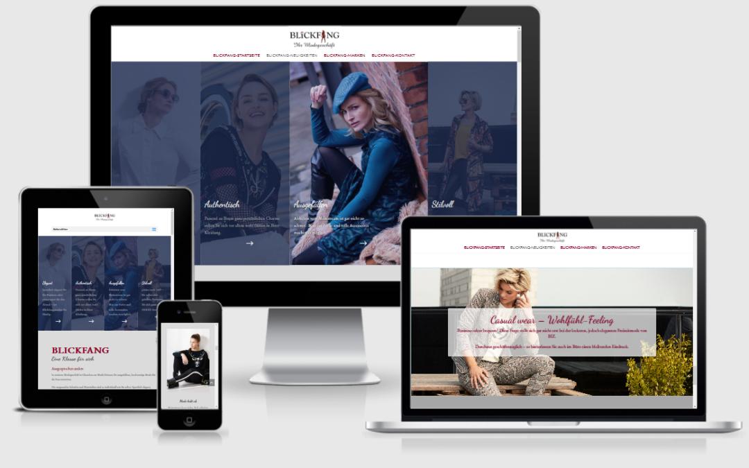 Modewebseite