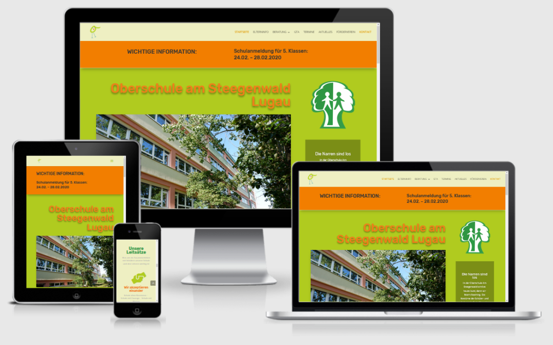 Website Oberschule Lugau