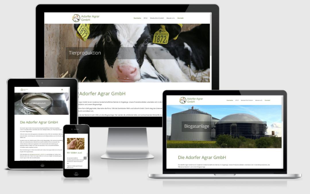 Webseite Adorfer Agrar GmbH
